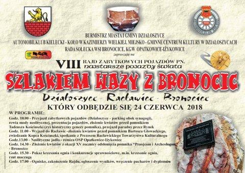 Zaproszenie na VIII Rajd Wazy z Bronocic_1